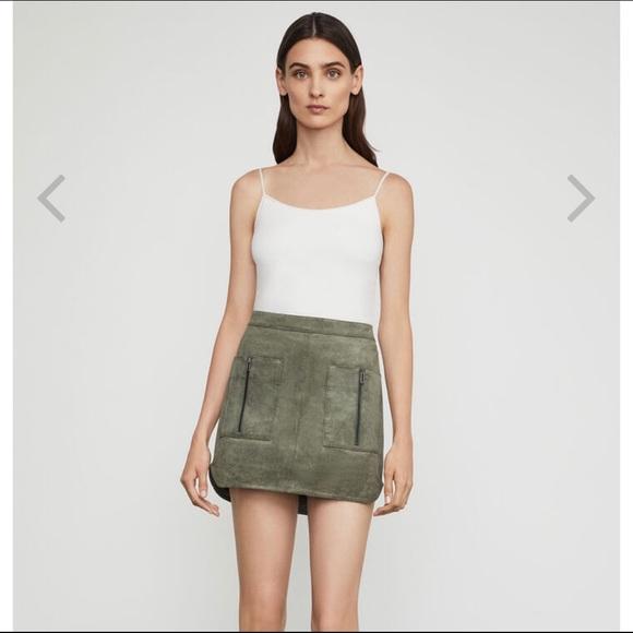 BCBGMaxAzria Dresses & Skirts - BCBGMAXAZRIA Patch Pocket Faux Suede Skirt